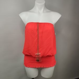 Miss Avenue Coral Strapless Tube Top  NWT